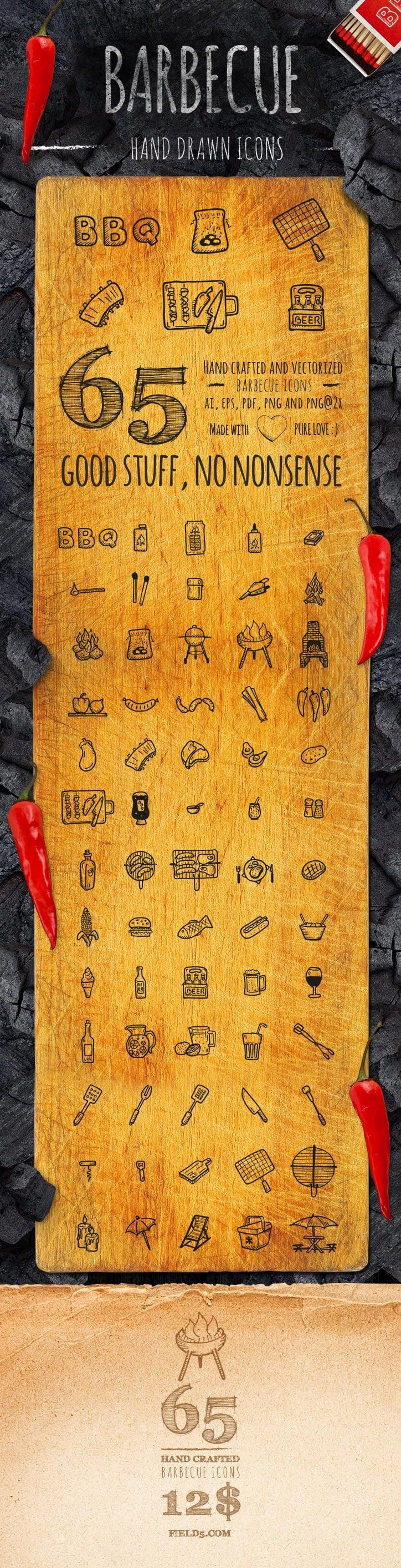 BBQ Icons - Hand Drawn Icons
