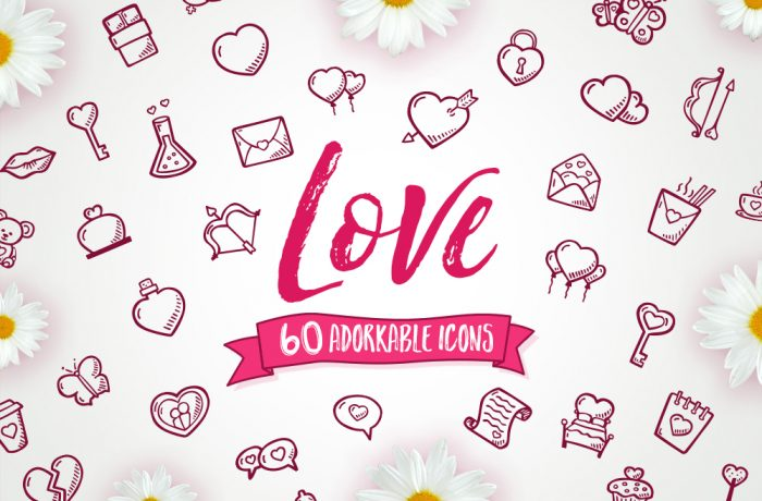 Hand Drawn Love And-valentines Day Icons Vector Pack