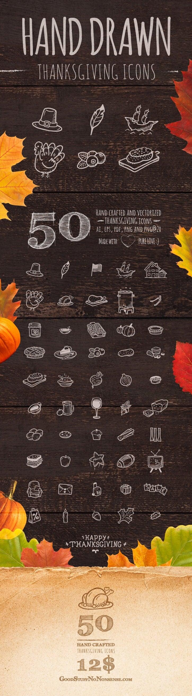 Thanksgiving - Hand Drawn Icons