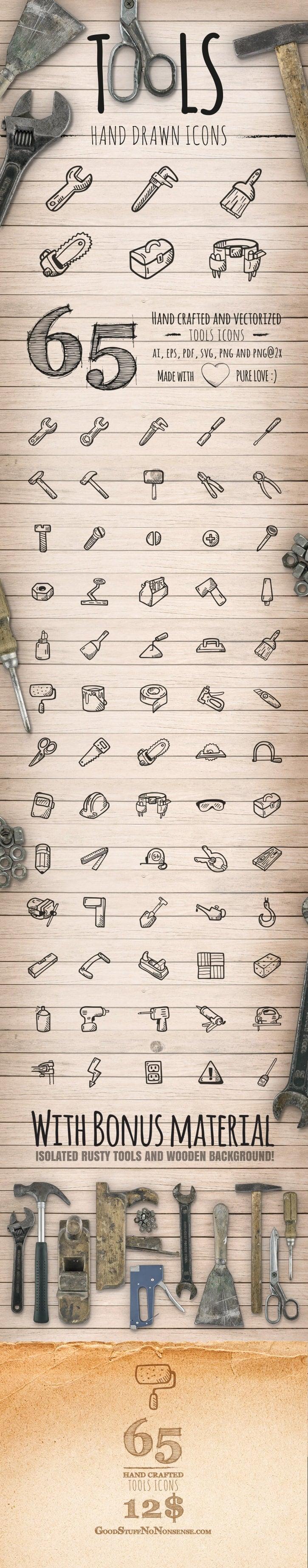 Tools Icons - Hand Drawn Icons