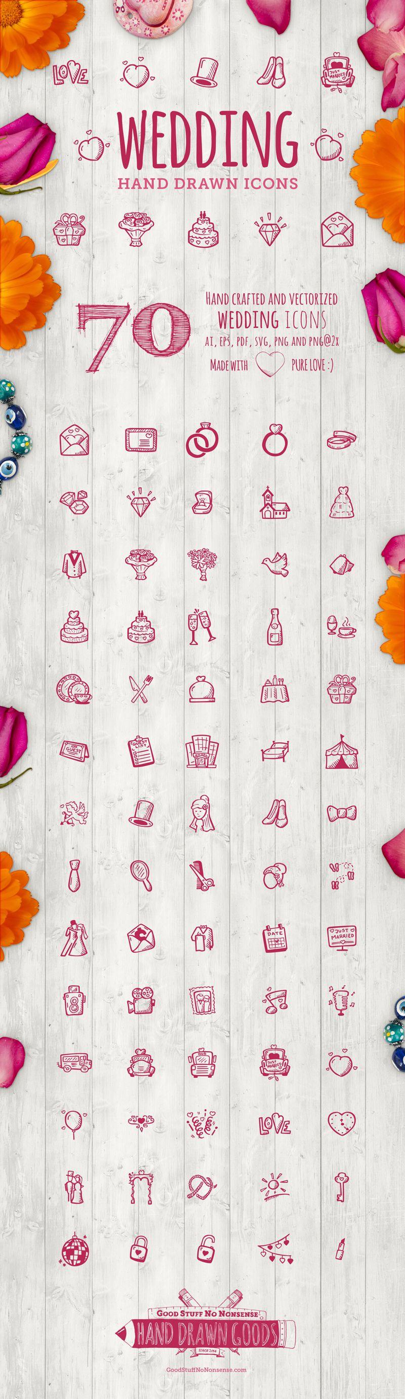 Wedding icons - Hand Drawn Icons
