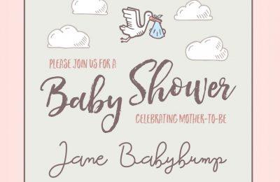 Baby Shower Hand Drawn Invitations