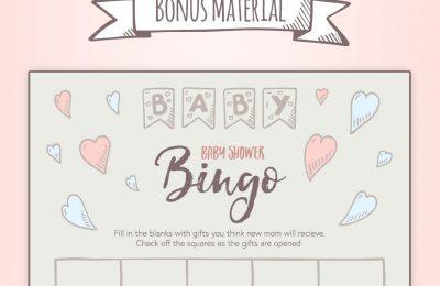 Baby Shower Hand Drawn Printable Bingo Card
